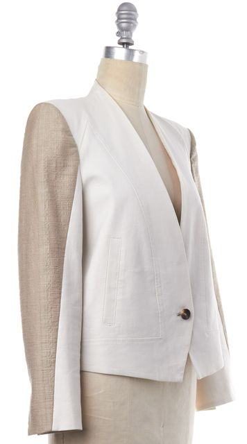 HELMUT LANG Ivory Beige Single Button Blazer