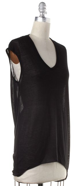 HELMUT LANG Black Sleeveless Back Long Top