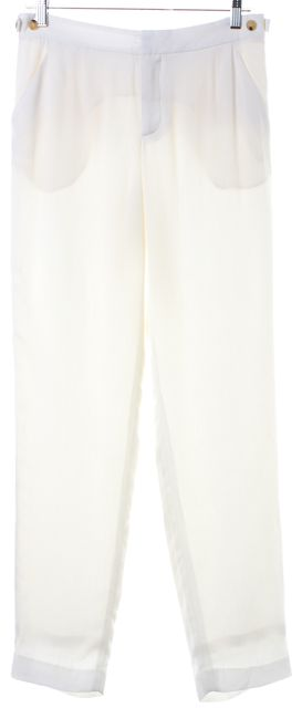 HELMUT LANG Ivory Dress Pants