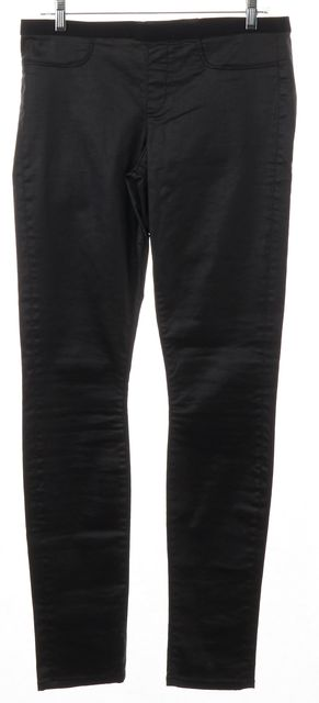 HELMUT LANG Black Coated Cotton Slim Fit Pants