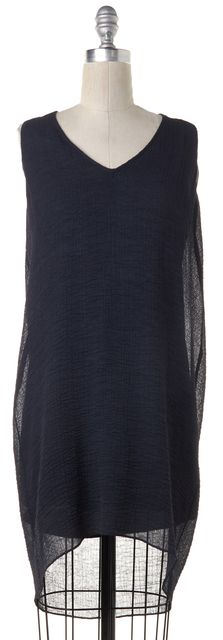HELMUT LANG Dark Green Textured Shift Dress