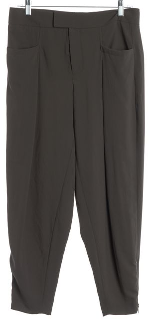 HELMUT LANG Gray Ankle Zip Casual Pants