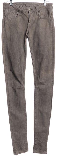 HELMUT LANG Gray Stonewashed Moto Inspired Skinny Jeans