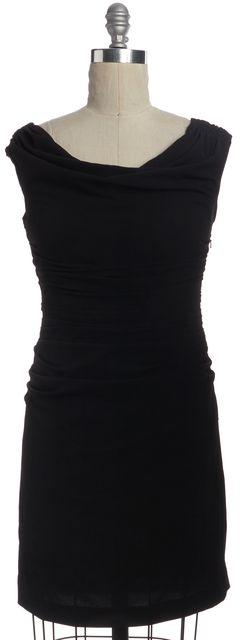HELMUT LANG Black Cutout Back Bodycon Dress