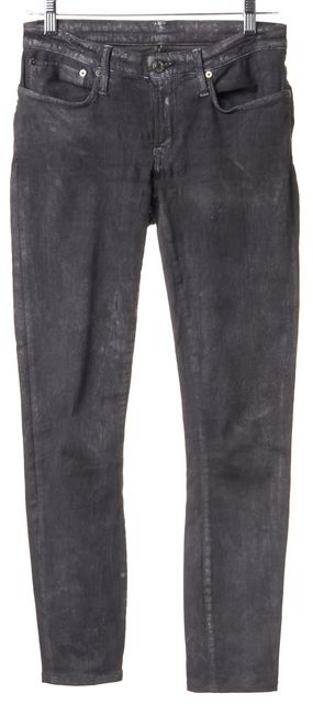 HELMUT LANG Gray Distressed Stonewashed Skinny Jeans