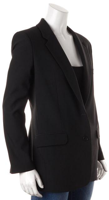 HELMUT LANG Black Wool Pocket Front Blazer Jacket