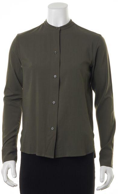 HELMUT LANG Green Button Down Shirt