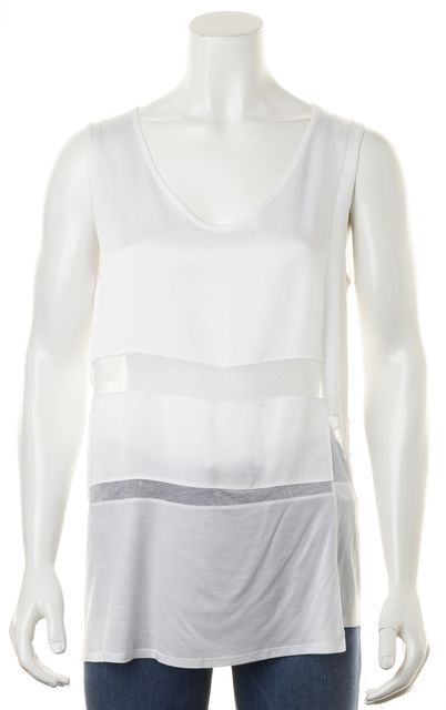HELMUT LANG White Sheer Cut-Out Tank Top