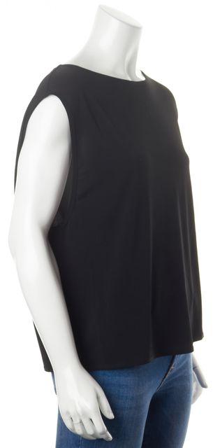 HELMUT LANG Black Sleeveless Oversized Boxy Blouse Top