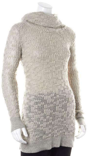 HELMUT LANG Gray Wool Mohair Long Sleeve Turtleneck Sweater