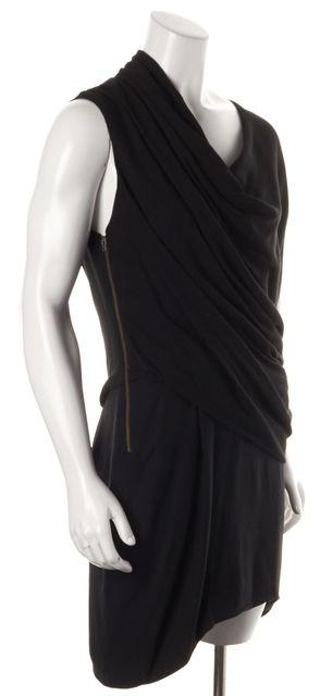 HELMUT LANG Black Prism Draped Blouson Dress