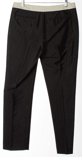HELMUT LANG Black Grey Band Slim Fit Dress Pants