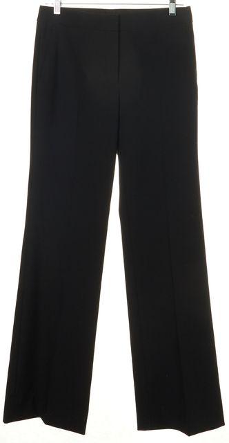 HELMUT LANG Black High Rise Pleated Flared Leg Trousers Pants