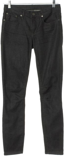 HELMUT LANG Blue Stretch Cotton Dark Wash Skinny Jeans