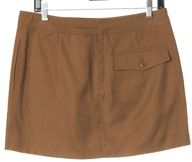 HELMUT LANG Rustic Brown Patch Pocket Mini Skirt