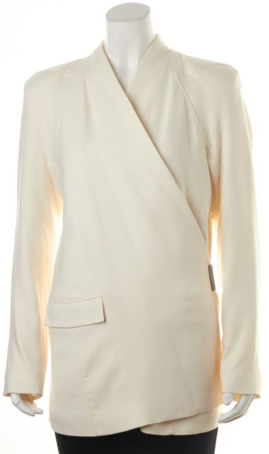 HELMUT LANG Ivory Wrap Effect Pocket Front Basic Jacket