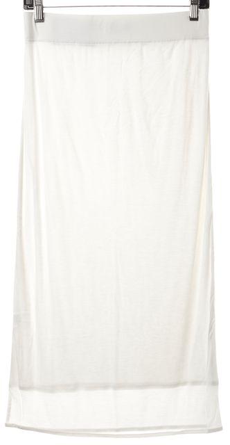 HELMUT LANG White Jersey Slim Midi Maxi Skirt