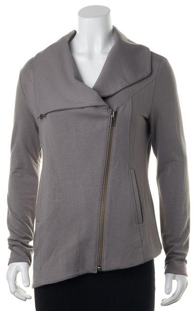 HELMUT LANG Gray Asymmetrical Jacket