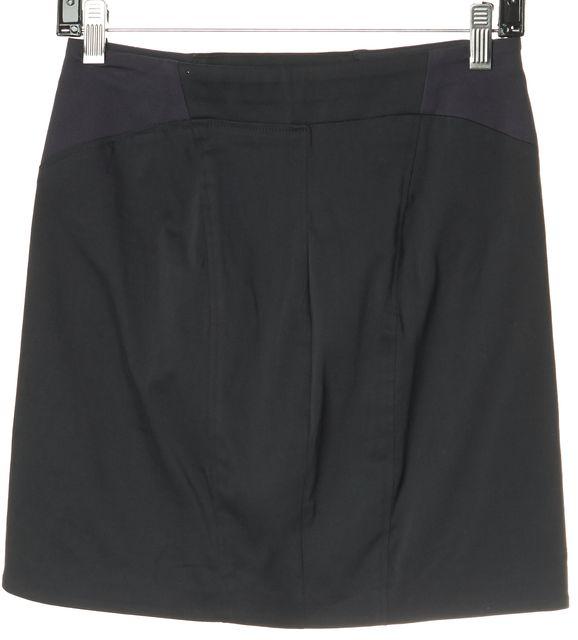 HELMUT LANG Gray Colorblock Mini Skirt
