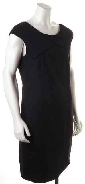 HELMUT LANG Black Wool Blend Dress