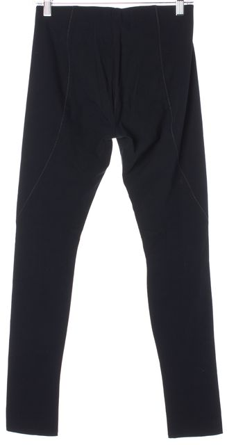 HELMUT LANG Black Gray Stitch Fab Reflex Leggings