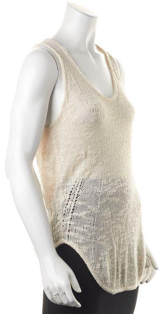 HELMUT LANG FOR INTERMIX Ivory Silk Knit Tank Top