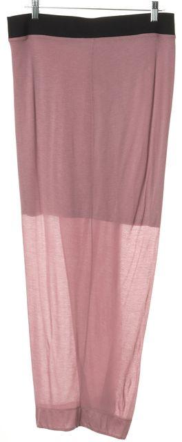 HELMUT LANG Pink Drape Maxi Skirt