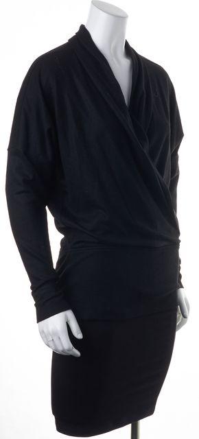 HELMUT LANG Black Wool V-Neck Sweater