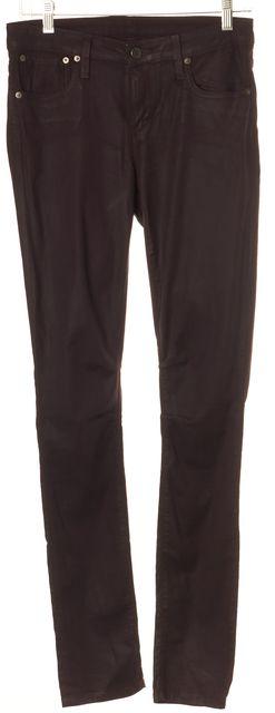 HELMUT LANG Purple Skinny Stretch Pants