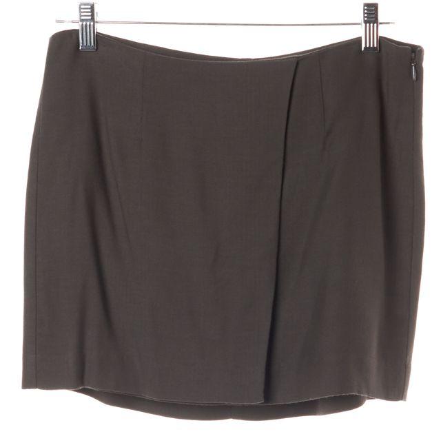 HELMUT LANG Gray Faux Wrap Mini Skirt