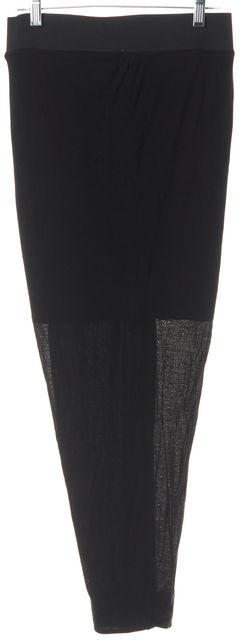 HELMUT LANG Black Long Wrap Skirt
