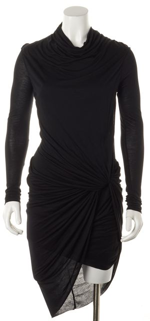 HELMUT LANG Black Slack Jersey Dress