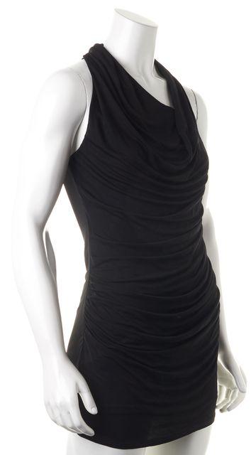 HELMUT LANG Sleeveless Above Knee Black Sheath Dress