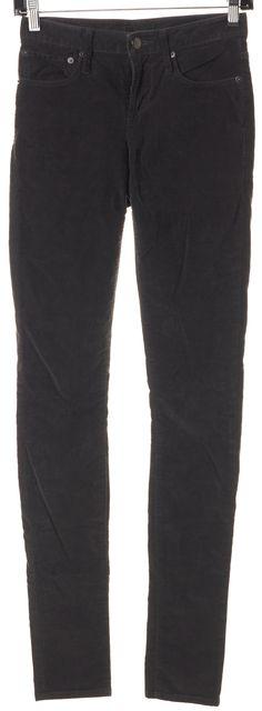HELMUT LANG Gray Five Pocket Stretch Corduroys Pants
