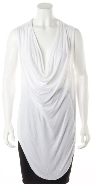 HELMUT LANG White Sleeveless Tunic Top