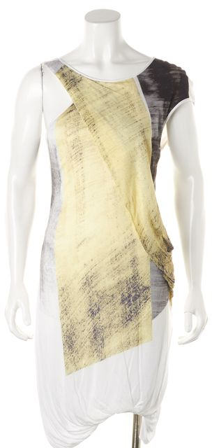 HELMUT LANG Multi-color Abstract Knit Dress