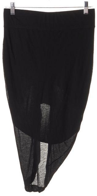 HELMUT LANG Black Stretch Asymmetrical Hem Skirt