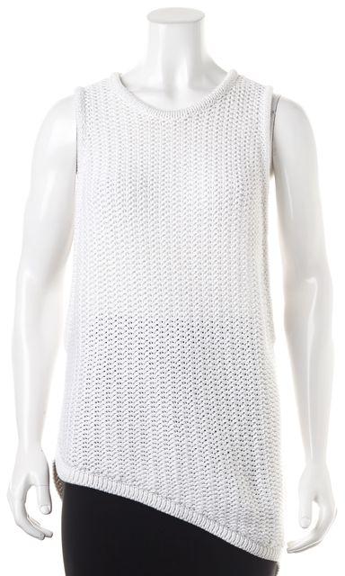 HELMUT LANG White Cotton Knit Top