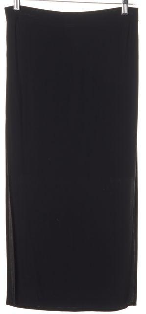 HELMUT LANG Black Faint High-Slit Midi Skirt