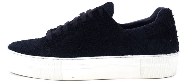 HELMUT LANG Black Textured Suede Leather Sneakers