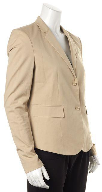 HELMUT LANG Beige Button Front Blazer