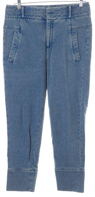 HELMUT LANG Blue Jean Printed Jogger Pants