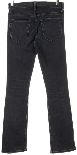 HELMUT LANG Blue Mid-Rise Cropped Skinny Flare Jeans