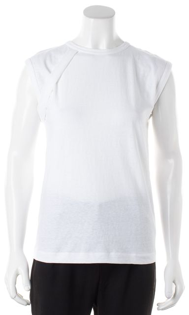 HELMUT LANG White Vintage Cotton Crewneck Top