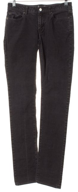 HELMUT LANG Dark Gray Stretch Cotton Corduroys Pants