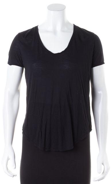 HELMUT LANG Black Short Sleeve Modal Crewneck Basic T-Shirt