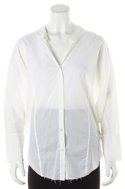 HELMUT LANG White Batwing Button Down Shirt Top