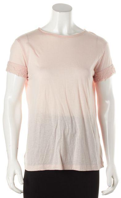 HELMUT LANG Pink Cotton Cashmere Top