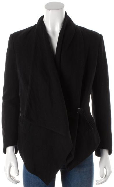 HELMUT LANG Black Long Sleeve Slip Tie Blazer