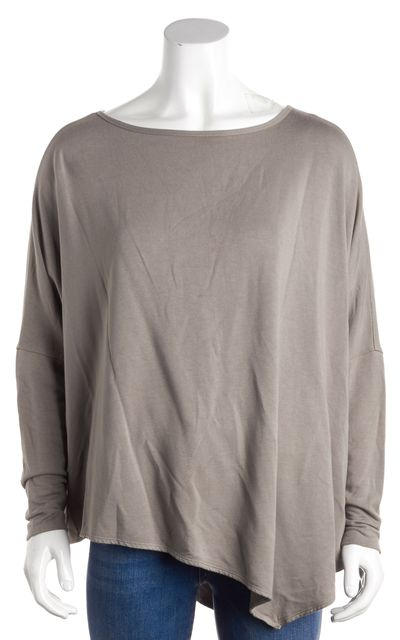 HELMUT LANG Green Scoop Neck Batwing Blouse